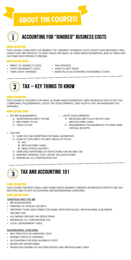 Project 39 Accounting and Tax Poster_about the courses