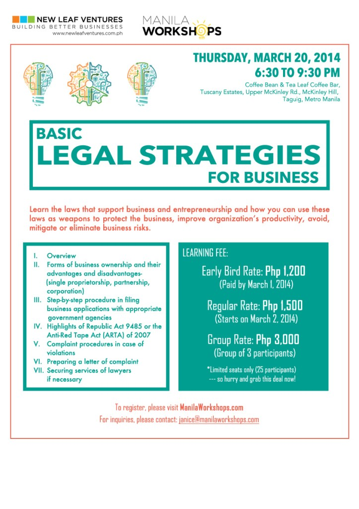 Basic Legal Strategies Workshop FINAL