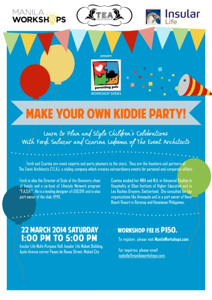 Parenting Pals - Make Your Own Kiddie Party Poster