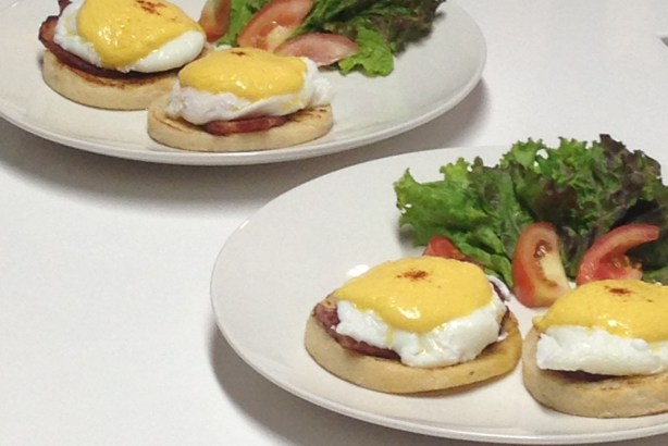 Eggs Benedict: Find the recipe at My Great Food App