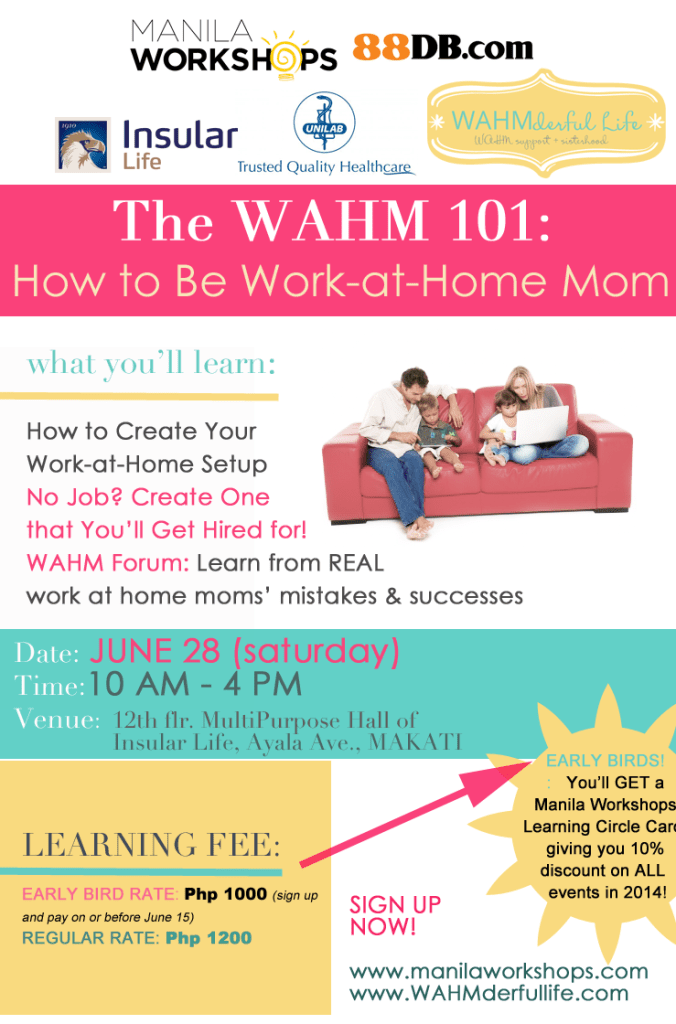 WAHMderful Workshops 101 - 2014