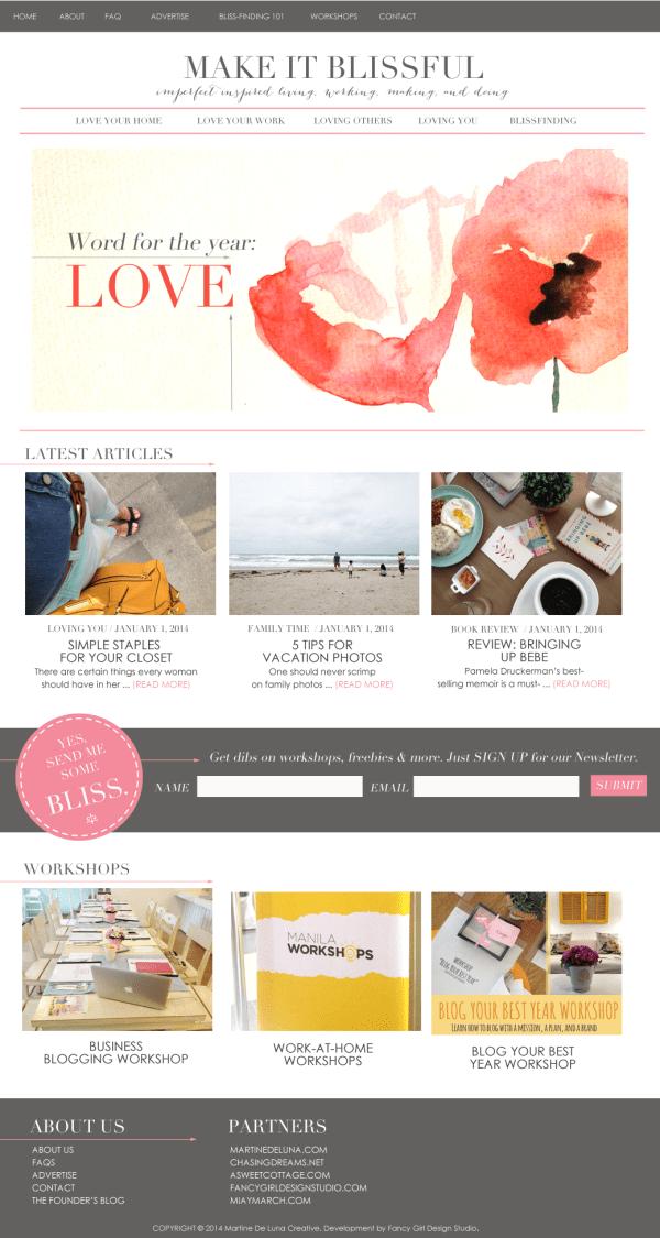 Make It Blissful Website