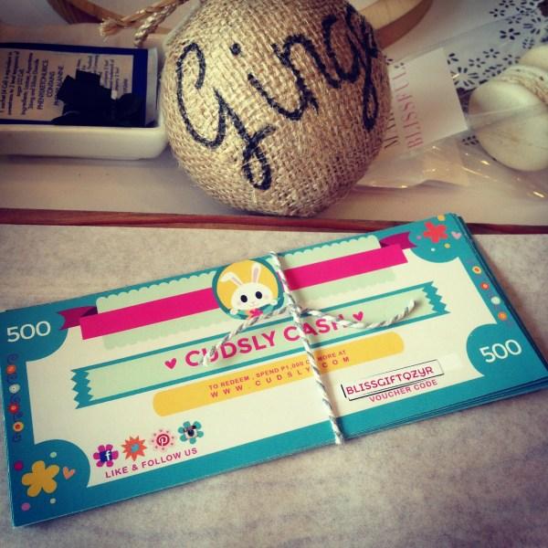 I won Cudsly Cash!