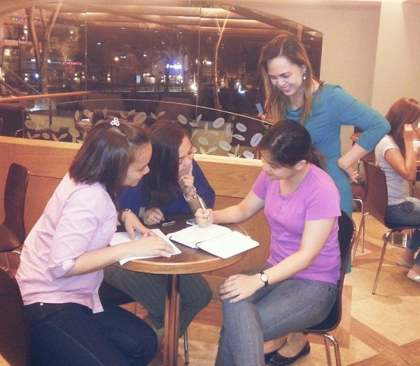 Mentoring Session -- image from Jean of Angat Pilipinas Coalition for Financial Literacy