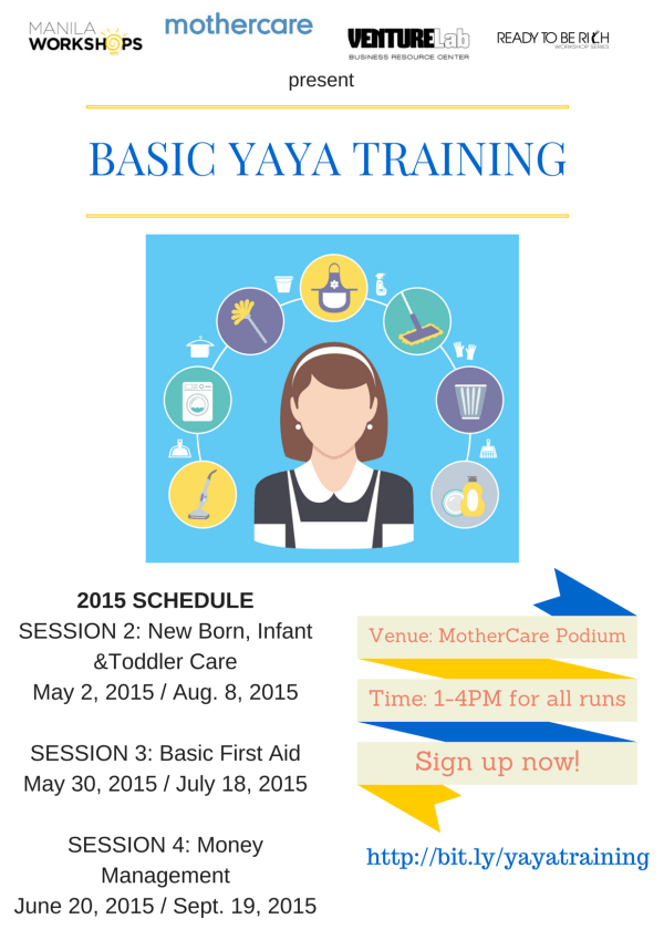 Basic Yaya Training Workshops 2015
