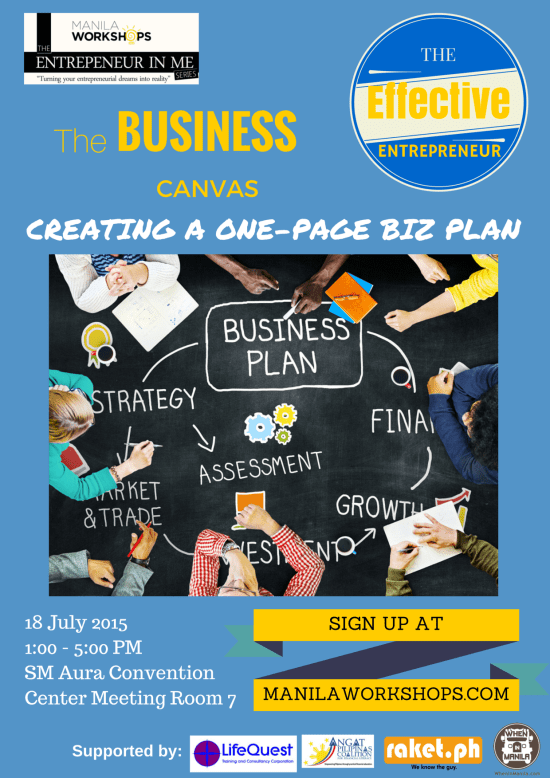 The Business Canvas Poster v1