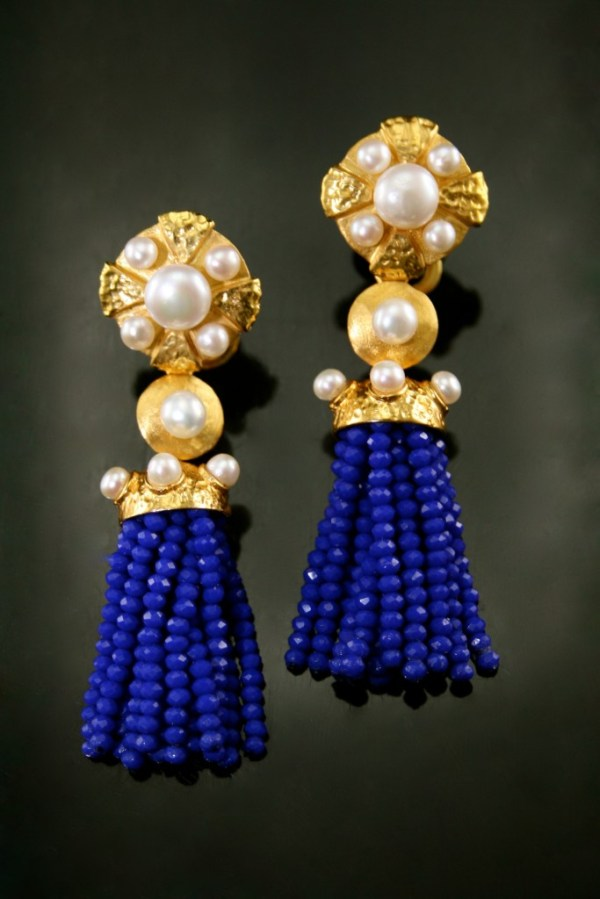 FP ROYAL BLUE GALAXY TASSEL EARRING
