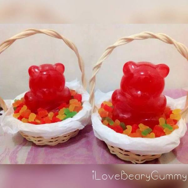 Giant Gummy Bear in a Basket
