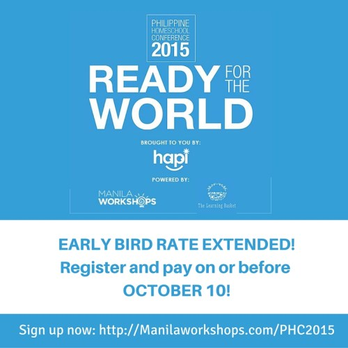 PHC2015 Early Bird Extension