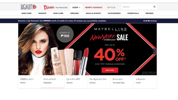 The BeautyMnl.com site
