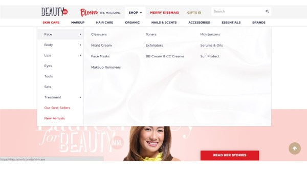 Categories in BeautyMnl.com