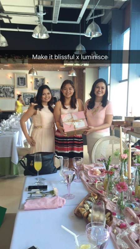 Your Truly receiving my box from Audrey and Dra. Kaycee of Luminisce
