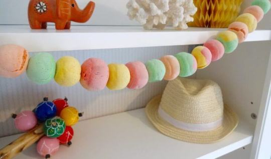 Salt Dough Ball Garland tutorial