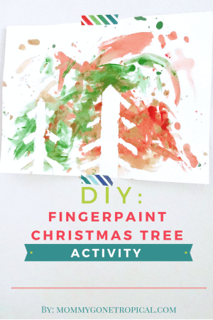 fingerpaint christmas tree