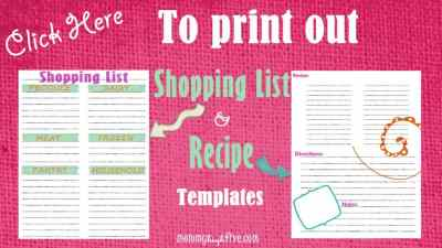 Gluten-Free Printable Shopping and Recipe