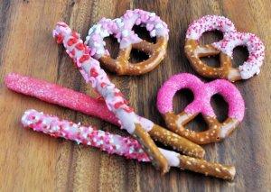 valentines pretzel rods