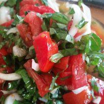Italian Bread Salad made with garden fresh ingredients
