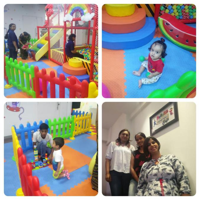 A sneak peek into the Lil Monsters play-area, the LM team with Ritu of JAMMS