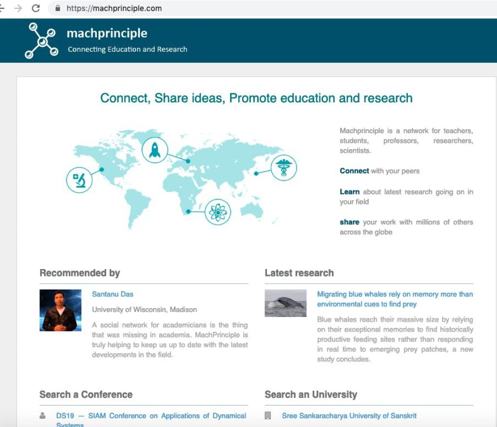 The new social networking platform Machprinciple.com , which is basically a social networking for Scientists, academicians, students. Read more to know how educatonists can get in touch with your tribe, read the latest researches in the field of science and technology. #science #research #scienceandtechnology #machprinciple #socialnetworking #networkingportal #education #scientists