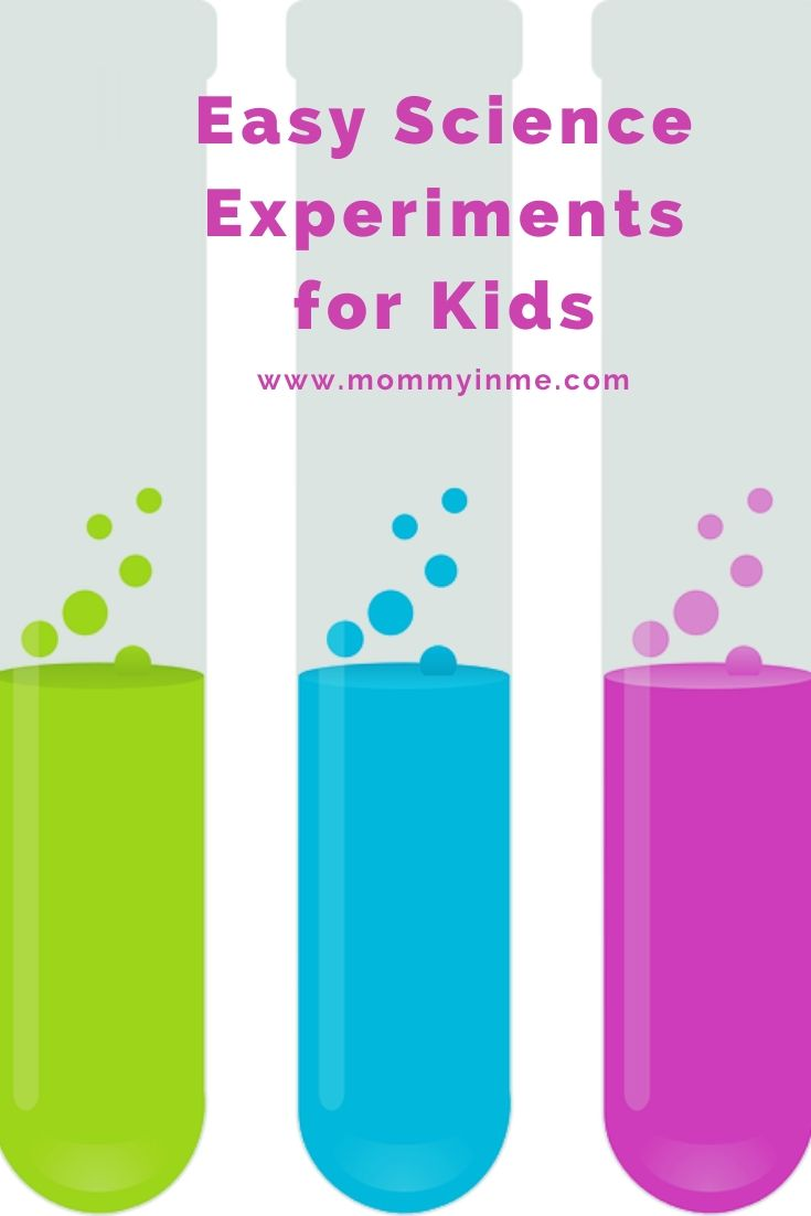 Easy Science experiments to do at home for kids #funforkids #kids #experiments #science