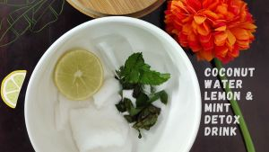 How to make Coconut water Mint detox drink?