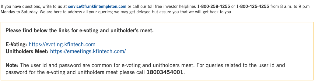 All you want to know about E-voting and winding up of Franklin Templeton 6 Fixed Income Mutual Fund schemes. They are due for voting from 26th December to 28th December 2020 . #FranklinTempleton #FT #FranklinTempletonevoting #evoting #sanjaysapre #mutualfunds