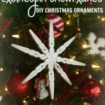 DIY Christmas Ornaments: Clothespin Snowflakes