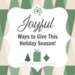 Joyful Ways to Give This Holiday Season