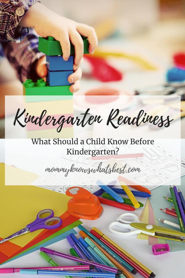 Kindergarten Readiness: Getting Ready for Kindergarten