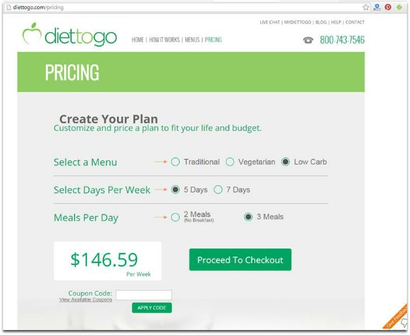 diet to go cost