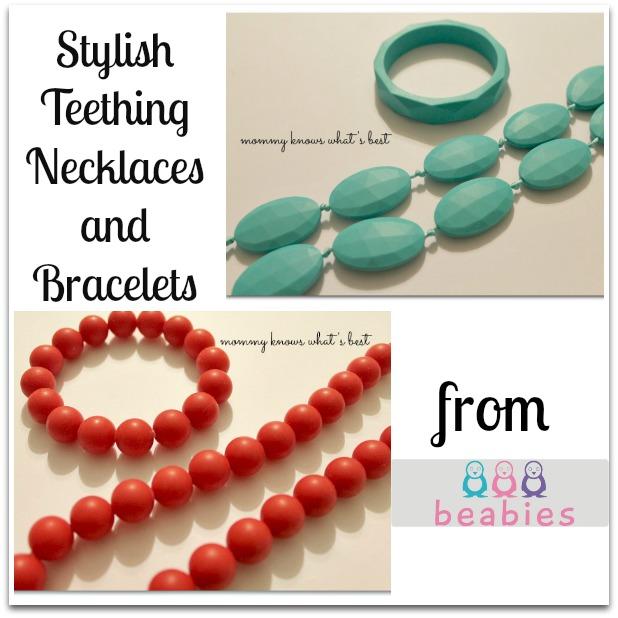 stylish teething jewelry