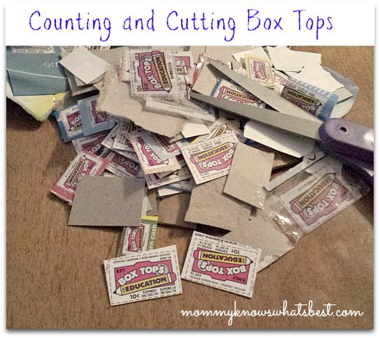 counting box tops for education