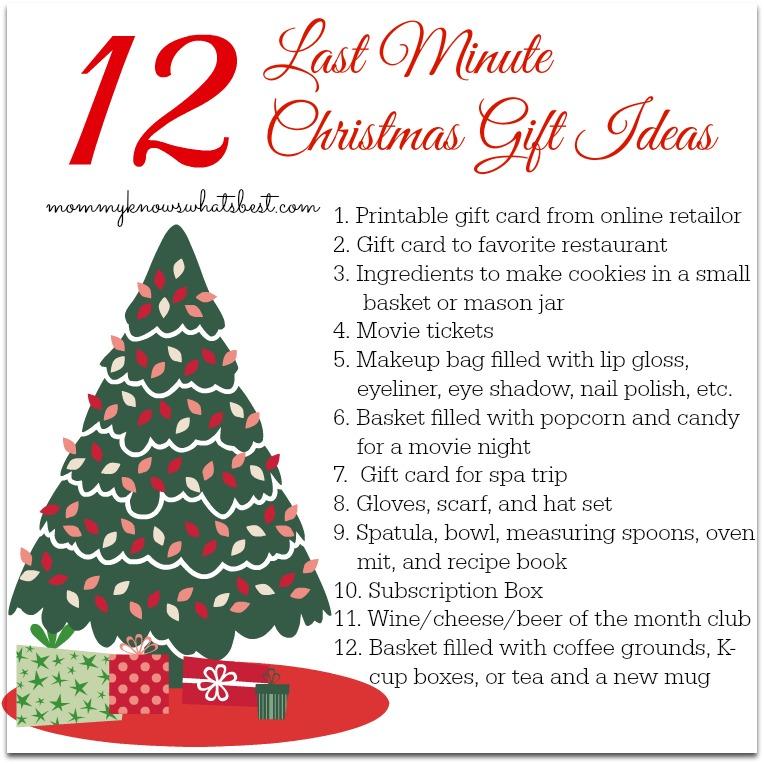 12 last minute christmas gift ideas