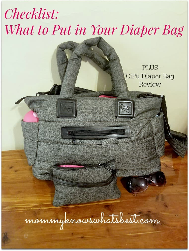 what to put in your diaper bag checklist