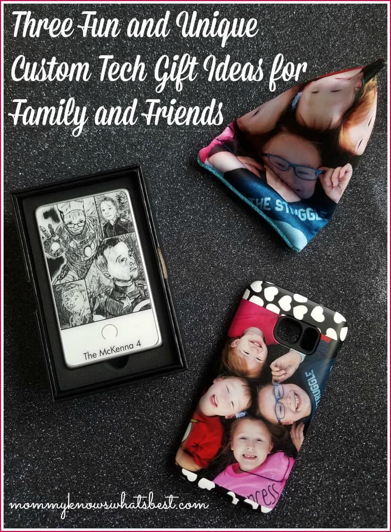 custom tech gift ideas for family and friends