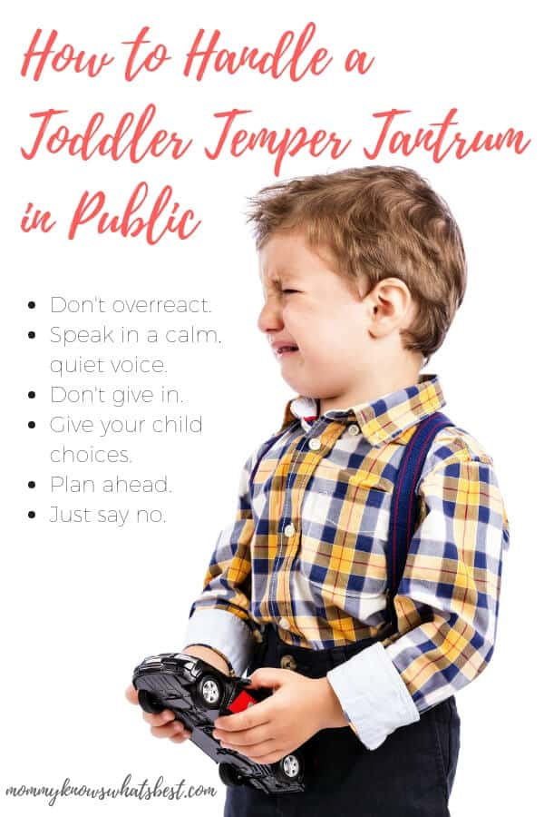 How to Handle a Toddler Tantrum