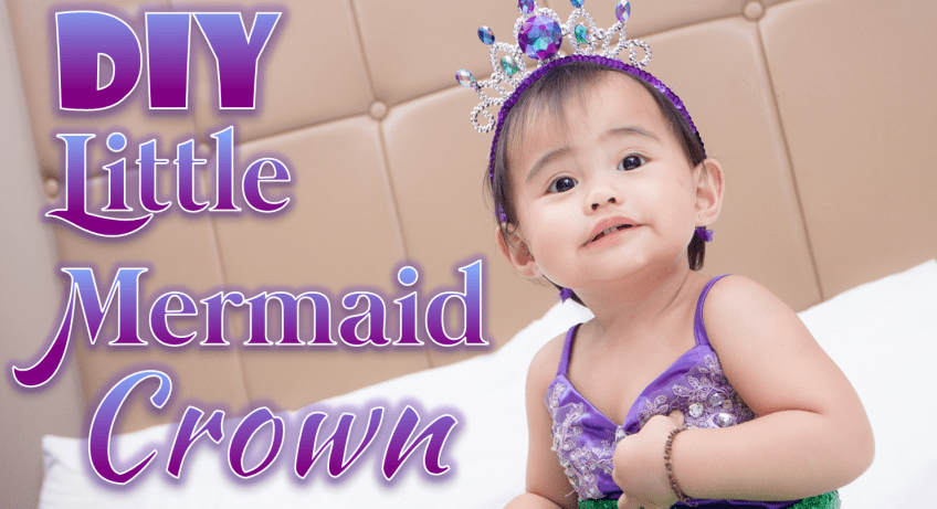 Little Mermaid Crown Baby Mommy Krystal