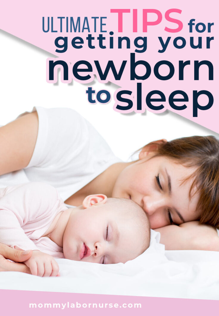 tricks to get your baby to sleep sleeping baby image