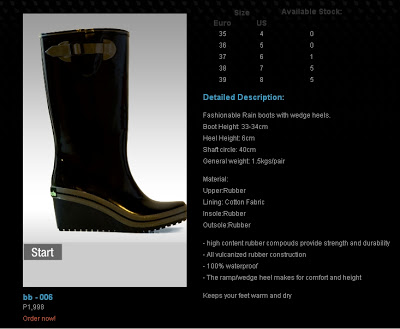 "I want a ""Hunter"" rain boots!"