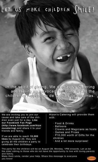 HELP the Orphans at Asosacion de Damas de Filipinas!
