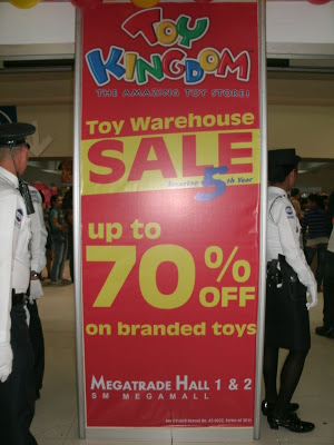 Toy Kingdom warehouse sale at Megatrade Hall Nov.4-6, 2011
