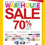 Enjoy up to 70% off on SM Kids' Warehouse Sale