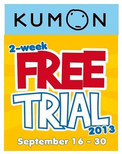 KUMON 2 Weeks Free Trial Classes