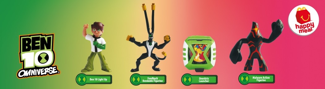 McDonald's Happy Meal 2016: Ben10 Omniverse and Little Pony Equestria Girls