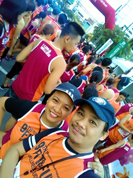 Noel and I at 9th Robinsons Supermarket Fit and Fun Wellness Buddy Run