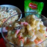 Chicken Macaroni Salad Recipe with Pineapple Bits