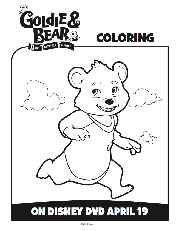 Free Goldie and Bear Coloring Pages From Disney Junior