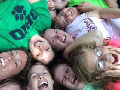 Q cuz reunion trampoline selfie