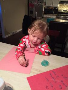 2014_12 writing letters to Santa