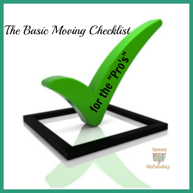 "The Basic Moving Checklist – for the ""Pro's"""